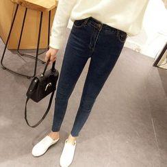 时尚麻豆家 - 窄身牛仔裤