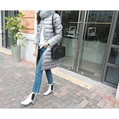 MARSHMALLOW - Snap-Button Padded Midi Jacket