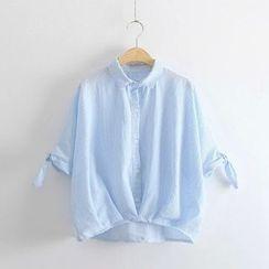 PANDAGO - Striped Short Sleeve Shirt