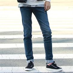 Smallman - Straight-Cut Distressed Jeans