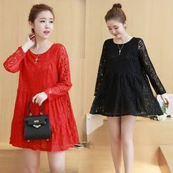 VIZZI - Long Sleeve A-Line Lace Dress
