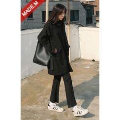 MICHYEORA - Pocket-Side Zip-Up Coat