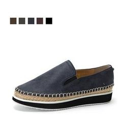 MODELSIS - Genuine Leather Espadrille Slip-Ons