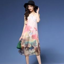 Elabo - Print Short Sleeve Dress