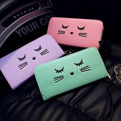 Youme - Cat Zip Around Long Wallet