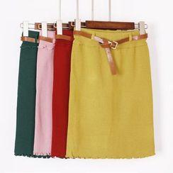 City of Dawn - Knit Pencil Skirt