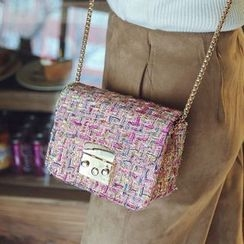 Youshine - Tweed Boxy Crossbody Bag