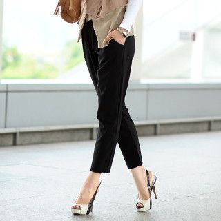 59 Seconds - Tie-Waist Chiffon Pants