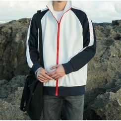 优凡士品 - 插色拉链夹克