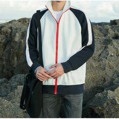 Bestrooy - Color Block Zip Jacket
