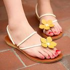 Smoothie - Corsage-Accent Thong Mule Sandals