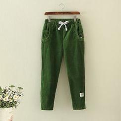 Nycto - Plain Drawstring Pants