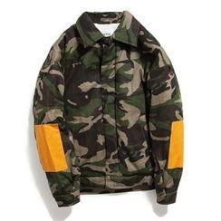 Milioner - Camouflage Padded Baseball Jacket