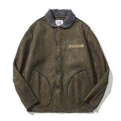 Milioner - Faux Suede Fleece-lined Jacket