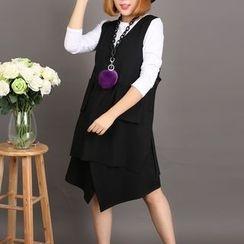Rainbow Plus - Set : Long-Sleeve T-shirt + Vest + Skirt