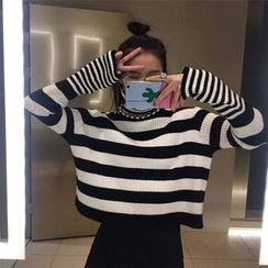 Chililala - Striped Turtleneck Sweater