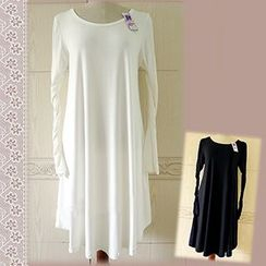 Milu Milu - Long-Sleeve Slipdress