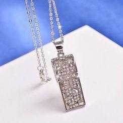 Best Jewellery - Rhinestone Whistle Pendant Necklace