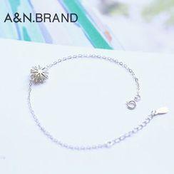 AINIAN - 925 Sterling Silver Flower Bracelet