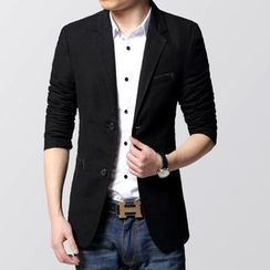 Jazz Boy - Notched-Lapel Buttoned Blazer