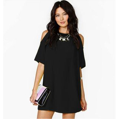 Persephone - Cutout Shoulder Short-Sleeve Tunic