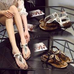 BAYO - Metallic Accent Thong Sandals