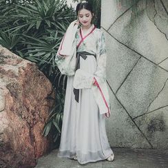 Namibabe - Patterned Chinese Traditional Costume Set