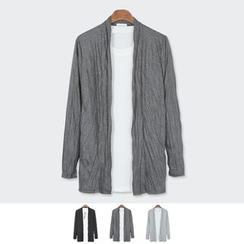 DANGOON - Open-Front Crinkled Cardigan