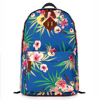 Mr.ace Homme - Floral Appliqué Canvas Backpack