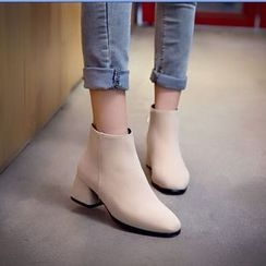 Pretty in Boots - Chunky Heel Ankle Boots