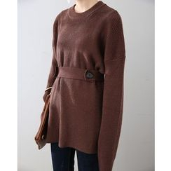 HORG - 腰结带长款毛衣