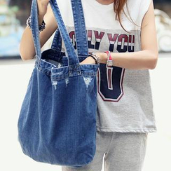 REDOPIN - Distressed Denim Shopper Bag