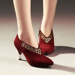 JY Shoes - Studded Pointy Pumps