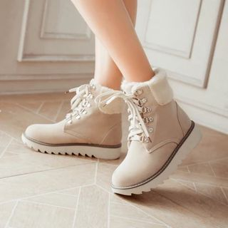 Pastel Pairs - Lace-Up Short Boots