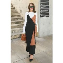 PPGIRL - Spaghetti-Strap Color-Block Dress