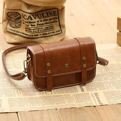 Vintage Kiss - Faux-Leather Satchel