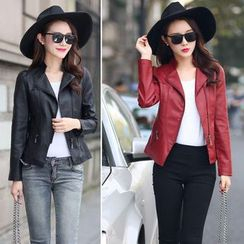 Maine - Faux-Leather Jacket