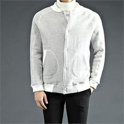 THE COVER - Contrast-Trim Baseball Jacket