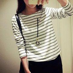 Jolly Club - Long-Sleeve Striped T-Shirt