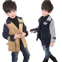 POMME - Kids Color Panel Zip Jacket
