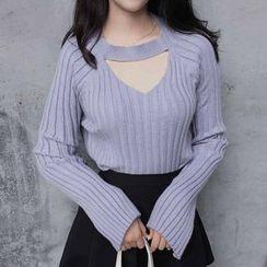 Rollis - Cutout Bell-Sleeve Sweater