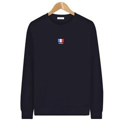 Seoul Homme - Long-Sleeve Embroidered T-Shirt