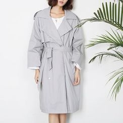 Sens Collection - Double-Breasted Loose Fit Trench Coat