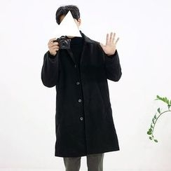 Seoul Homme - Buttoned Wool Blend Coat