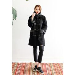 Dalkong - Toggle-Button Faux-Shearling Coat
