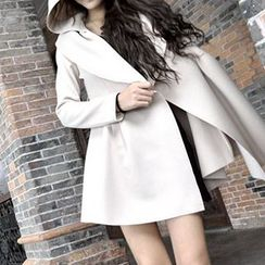 Dream Girl - Hooded Trench Coat with Sash