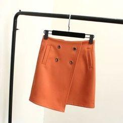 Ainvyi - Warp Buttoned Skirt
