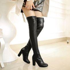 Romantina - Block Heel Over The Knee Boots