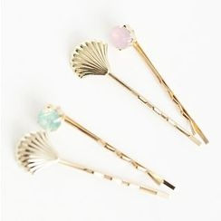 Coolgirl - Shell Hair Pin Set (2pcs)