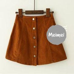 Meimei - A-Line Corduroy Skirt
